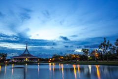 twilight Suan luang Rama 9 park, Thailand Stock Photography