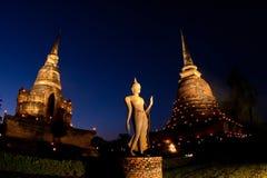 Twilight at Sukhothai Historical Park, Thailand Royalty Free Stock Photo