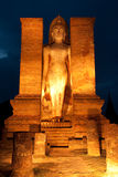 Twilight at Sukhothai historical park, Thailand Royalty Free Stock Photography