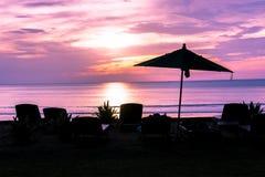 Twilight Sunset Beach Stock Photo