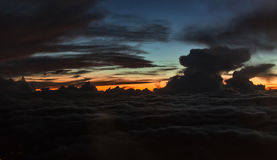 Twilight sunset cloudscape landscape. colorful sky Royalty Free Stock Photo