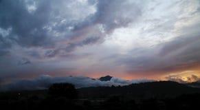 Twilight. A sunset that illuminates the clouds Stock Photo