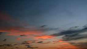 Twilight. Sunset rays on twilight cirrostratus clouds stock video footage