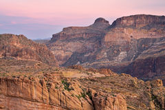 Twilight, Superstition Mountains Stock Photos