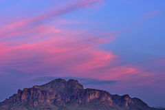 Twilight Superstition Mountains Stock Image