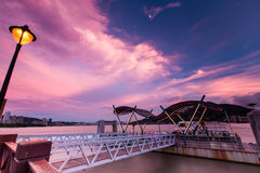 Twilight of Tamsui Pier, Taiwan. Twilight of Tamsui Pier at Taiwan Royalty Free Stock Photography