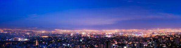 Twilight Tehran. A panoramic view of tehran stock images