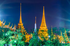 Twilight Temple of the Emerald Buddha (Wat Phra Kaew) Stock Photo