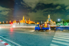 Twilight Temple of the Emerald Buddha (Wat Phra Kaew) Royalty Free Stock Images