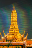 Twilight Temple of the Emerald Buddha Wat Phra Kaew of Bangkok Royalty Free Stock Image