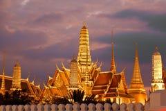 Twilight, Thai temple in Grand Palace, Bangkok Royalty Free Stock Image