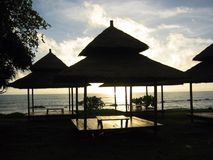 Twilight Thailand Massage Huts koh lantah Royalty Free Stock Images