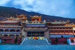 Twilight at tibetan monastery in Kangding Stock Photography
