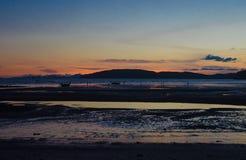 Beach on Twilight time. Twilight time at Ao Nang beach Krabi Thailand royalty free stock image
