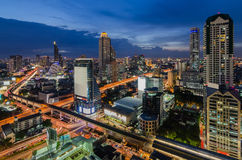 Twilight time in Bangkok Stock Photos