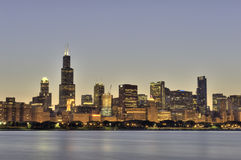 Twilight Time in Chicago Royalty Free Stock Image