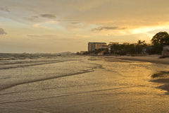 Twilight time at hua-hin beach Royalty Free Stock Image