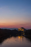 Twilight time at Kok river chiangrai Stock Images