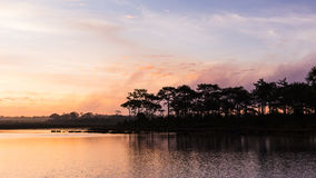 Twilight time with lake Stock Photography