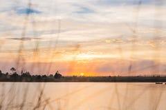 Twilight time with lake Stock Photos