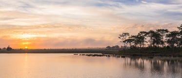 Twilight time with lake Royalty Free Stock Photos