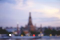 Twilight time of Wat Arun Royalty Free Stock Images