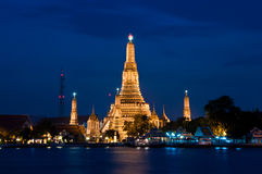 Twilight time at Wat Arun Royalty Free Stock Image