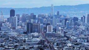 Twilight timelapse of San Francisco city center 4K. A Twilight timelapse of San Francisco city center 4K stock video