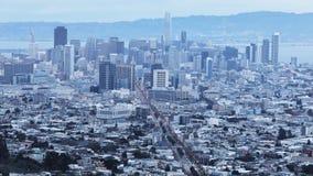 Twilight timelapse of San Francisco 4K. A Twilight timelapse of San Francisco 4K stock video footage