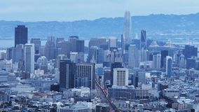 Twilight timelapse of San Francisco 4K. A Twilight timelapse of San Francisco 4K stock video