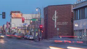 A Twilight Timelapse of Traffic on Lake Street in South Minneapolis