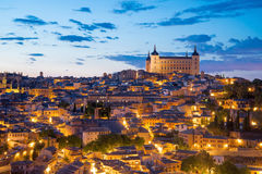 Twilight in Toledo, Spain. Stock Photos