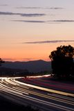 Twilight Traffic Streaks Royalty Free Stock Photo