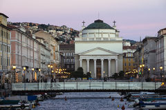 Twilight in Trieste Stock Photo