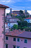 Twilight at typical Tuscany highland village Stock Photo