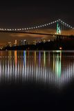 Lions Gate Night, Vancouver Stock Image