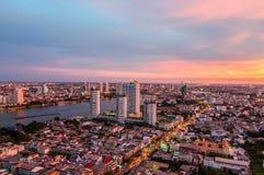 Twilight view Bangkok Stock Photo