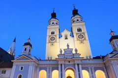 Twilight view of Brixen cathedral Royalty Free Stock Photo