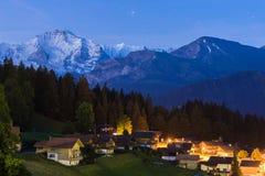 Twilight View of mountain at Interlaken. Switzerland Royalty Free Stock Image