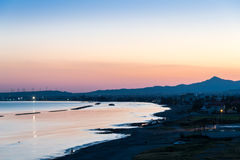 Twilight view over Larnaca, Cyprus Stock Photos
