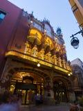 Twilight  view of The Palau de la Musica Catalana. Barcelona Royalty Free Stock Photos