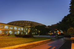 Twilight view of Songshan Cultural and Creative Park. At Taipei Stock Image