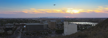 A Twilight View of Tempe and Phoenix Royalty Free Stock Image