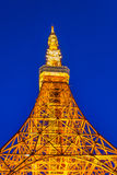Twilight view of Tokyo tower Royalty Free Stock Photo
