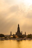 Twilight view of Wat Arun Royalty Free Stock Photography