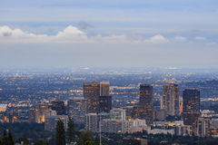 Twilight view of westwood area. Los Angeles, California Royalty Free Stock Image