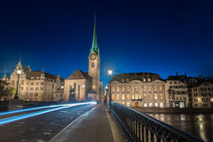 Twilight view of Zurich Royalty Free Stock Image