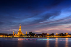 Twilight Wat Arun Bangkok Stock Photo