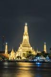 Twilight wat arun of landmark bangkok Royalty Free Stock Image