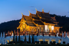Twilight wat Ho kham luang temple northern thailand Stock Image
